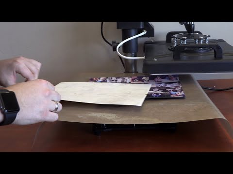 Sublimate Printing on Mouse Pad Demonstrated on Heatware Heat Press with Sublimation Print Mouse Pad