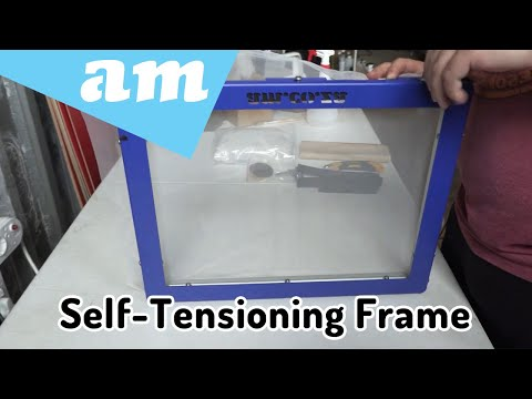 MeshMaster Self-Tensioning Screen Frame for Screenprinting Assemble and Mesh Stretch Demonstration
