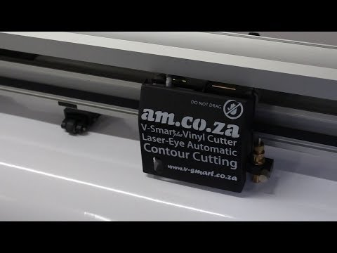 Introducing V-Smart Plus, a V-Smart Vinyl Cutter with Laser Eye for Fully Automatic Contour Cutting