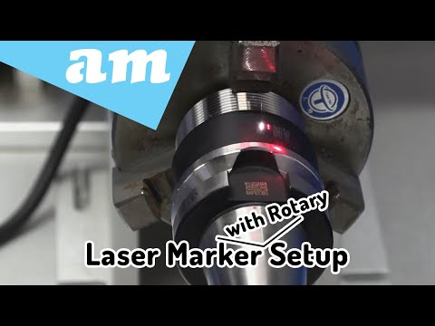 LabelMark Fibre Laser Marking Machine with Rotary Unit Basic Setup and Rotating Marking Usage Guide