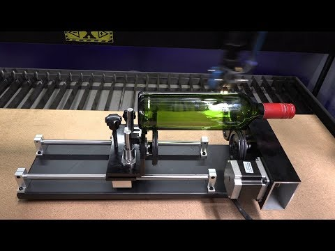 Surface Drive Rotary Attachment for TruCUT Cabinet Laser Cutting and Engraving Machine Demonstration