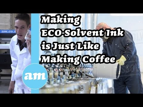 Making ECO-Solvent Ink is Just Like Making Coffee (So Easy) So ECO-Solvent Inks Should Be Cheap