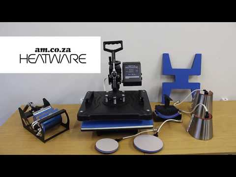 Heatware Multifunction Heat Press Combo with 9 Attachments for Sublimation Heat Press Application