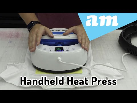 High-Frequency Portable Handheld Heat Press and Test on Heat Transfer Vinyl and Sublimation Print