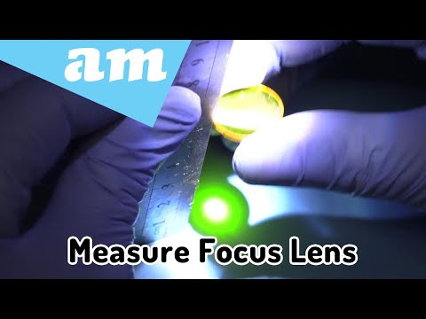 #SortIT, How to Measure CO2 Laser Focus Lens Focal Length and Diameter for Better Cutting