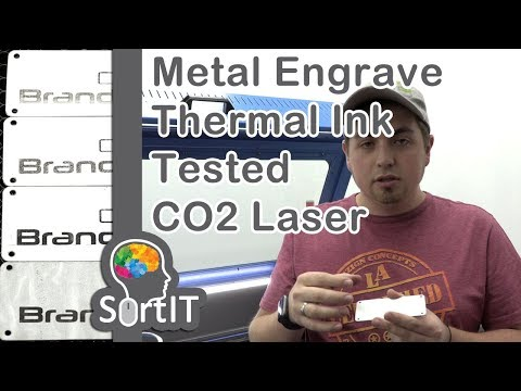 #SortIT, Engraving on Metal with Reusable Thermo-K Liquid Thermal Ink for CO2 Laser Marking Tested