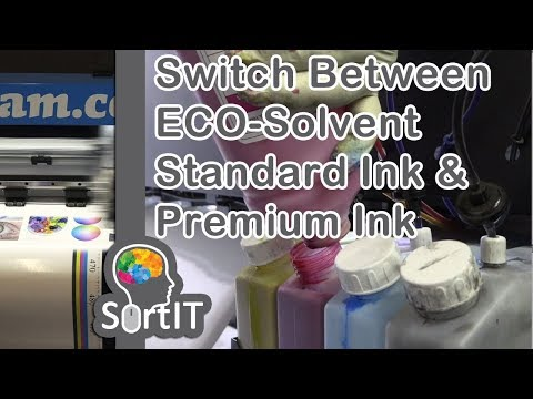 #SortIT, Switch Between Our FastCOLOUR ECO Solvent Standard Ink and Premium Ink for Bulk Ink System